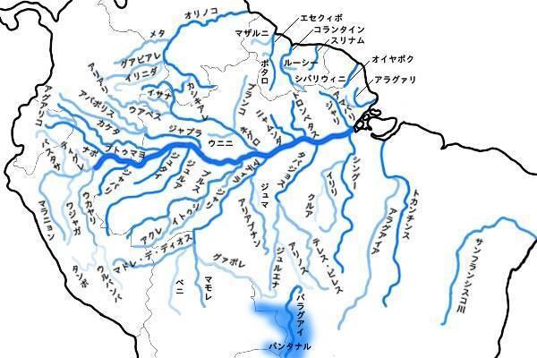 アマゾン川簡略図