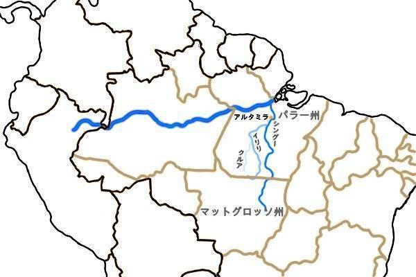 シングー川、パラー州、マットグロッソ州